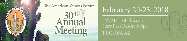 American Venous Forum | 2018 Tucson, AZ